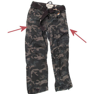 pants men SURPLUS - Premium Vintage - Black Camo - DAMAGED, SURPLUS