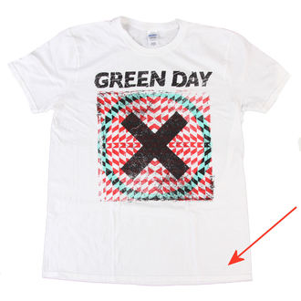 t-shirt men Green Day - Xllusion - White - Bravado EU - DAMAGED, BRAVADO EU, Green Day