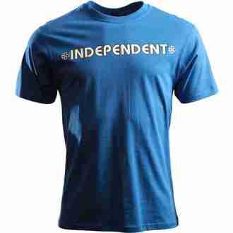 t-shirt street men's - Bar Cross - INDEPENDENT - ITSBA - BLUE