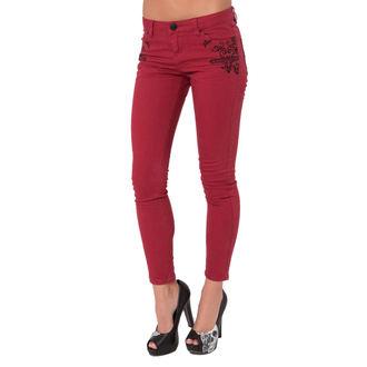pants women METAL MULISHA - Wicked Stitch - RED
