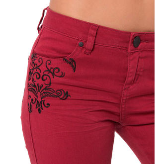 pants women METAL MULISHA - Wicked Stitch - RED