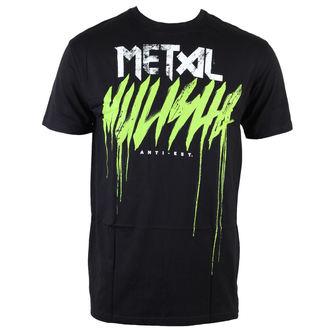 t-shirt street men's - Brush Drip - METAL MULISHA - BLK