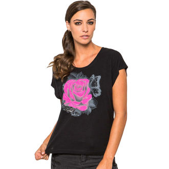 t-shirt street women's - Enamored - METAL MULISHA - BLK