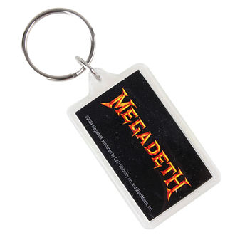 key ring (pendant) Megadeth - Logo, C&D VISIONARY, Megadeth