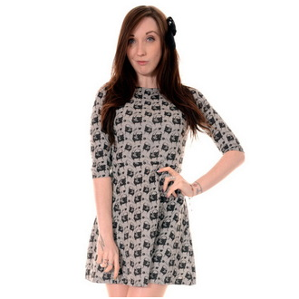 dress women 3RDAND56th - Pug Face - Green / Melange, 3RDAND56th