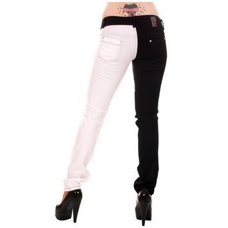 pants women 3RDAND56th - Split Leg - Black / White, 3RDAND56th