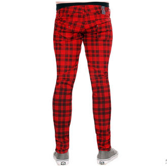 pants (unisex) 3RDAND56th - Checked - Black / Red