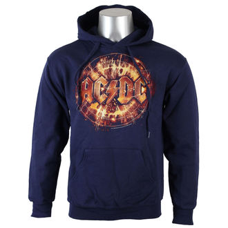 hoodie men's AC-DC - Navy Electric Explosion Logo - LIVE NATION - Electric