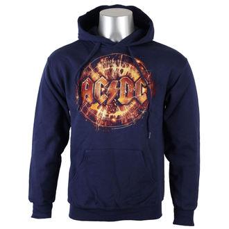 hoodie men's AC-DC - Navy Electric Explosion Logo - LIVE NATION, LIVE NATION, AC-DC