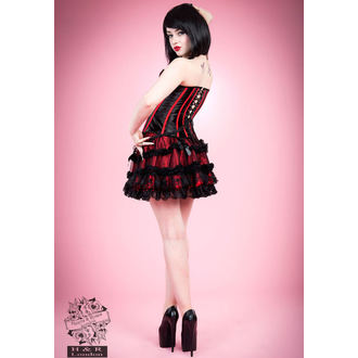 corset women's HEARTS AND ROSES - Black Red Bone, HEARTS AND ROSES
