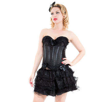 corset a skirt women's HEARTS AND ROSES - Black Corset With Skirt - 8068black