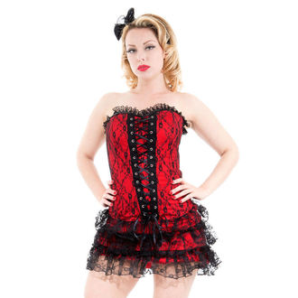 dress women HEARTS AND ROSES - Red Moulin Rouge, HEARTS AND ROSES