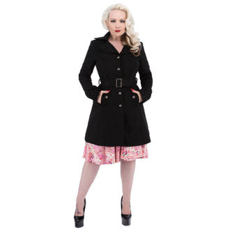 coat women's spring/autumn HEARTS AND ROSES - Black Black Flocking, HEARTS AND ROSES