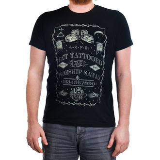 t-shirt gothic and punk men's - Get Tattooed & Worship Sa - TOO FAST