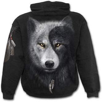 Hoodie men's - Wolf Chi - SPIRAL - T118M451