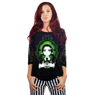 t-shirt gothic and punk women's - Dahlia - TOO FAST, TOO FAST