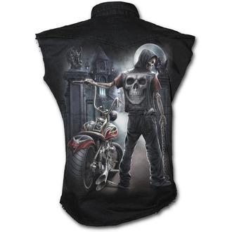 shirt men sleeveless SPIRAL - Night Church - Black - T121M602