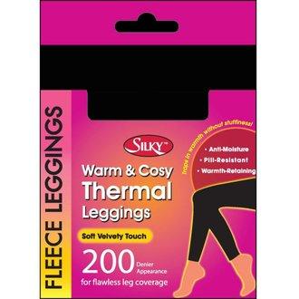 pants women winter (thermal leggings) - Silky - Black - SHFLF