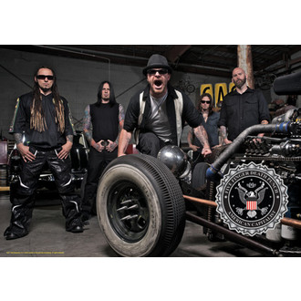 flag Five Finger Death Punch - Band Photo, HEART ROCK, Five Finger Death Punch