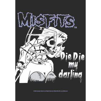flag Misfits - Die Die My Darling, HEART ROCK, Misfits