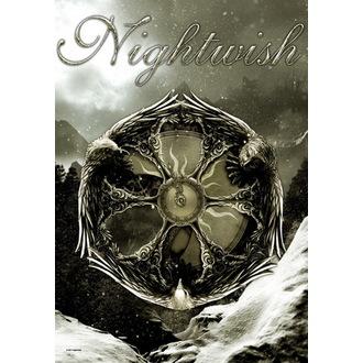 flag Nightwish - Emblem, HEART ROCK, Nightwish