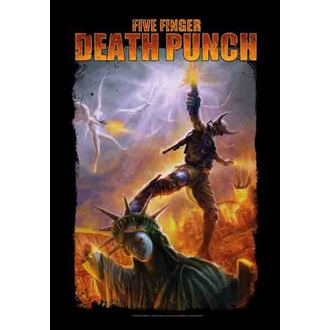 flag Five Finger Death Punch - Battle Of The God, HEART ROCK, Five Finger Death Punch