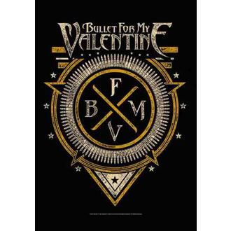 flag Bullet For My Valentine - Emblem, HEART ROCK, Bullet For my Valentine