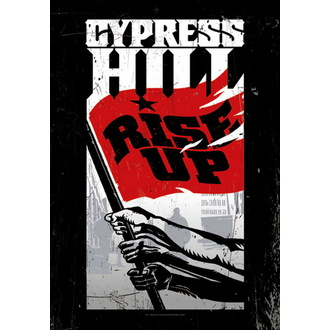 flag Cypress Hill - Rise Up, HEART ROCK, Cypress Hill