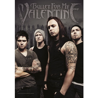 flag Bullet For My Valentine - Band Photo, HEART ROCK, Bullet For my Valentine