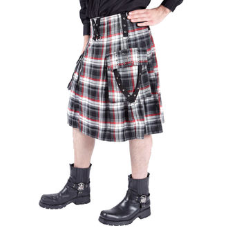 kilt men's DEAD Threads - Black / White / Red, DEAD THREADS