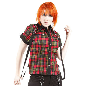 shirt women's DEAD THREADS - Red / Black - LS9552