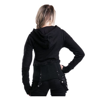 hoodie women's - Kaya - HEARTLESS - Black