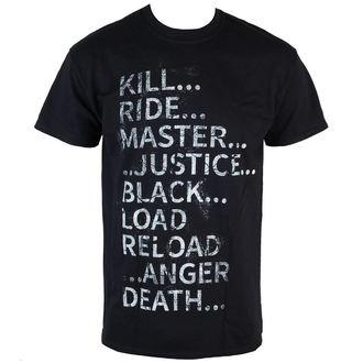 t-shirt metal men's Metallica - Album Text - LIVE NATION, LIVE NATION, Metallica