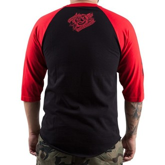 t-shirt street men's - The Keepers - FAMOUS STARS & STRAPS - BLK/RED