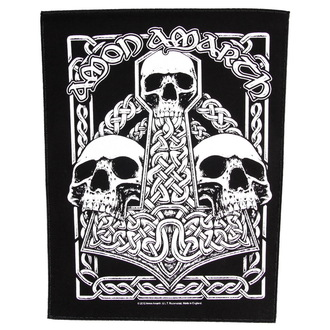 patch large Amon Amarth - Three Skulls - RAZAMATAZ, RAZAMATAZ, Amon Amarth