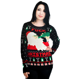 sweater women's TOO FAST - Xmas - Drunk Santa