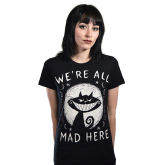 t-shirt hardcore women's - We're All Mad Here - Akumu Ink - 7TW14