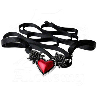 necklace ALCHEMY GOTHIC - Bloodheart Rose - P746