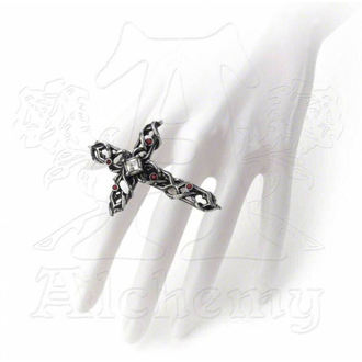 ring ALCHEMY GOTHIC - Thorny Cross Handspan, ALCHEMY GOTHIC