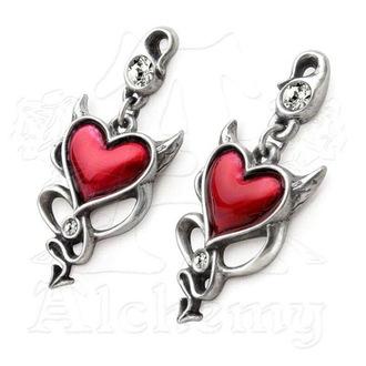 earrings ALCHEMY GOTHIC - Devil Heart Studs - ULFE22