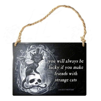 hanging plaque ALCHEMY GOTHIC - Strange Cats - ALHS11