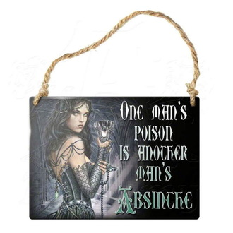 hanging plaque ALCHEMY GOTHIC - One Mans Poison, ALCHEMY GOTHIC