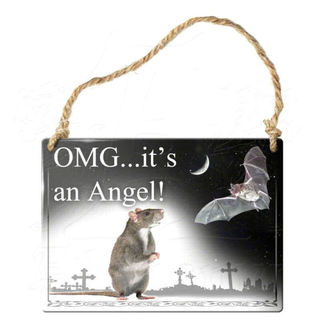 hanging plaque ALCHEMY GOTHIC - OMG Its A Angel - ALHS8
