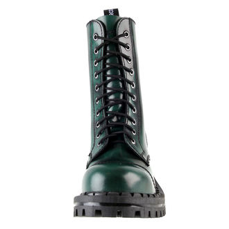 leather boots women's - ALTERCORE - Green Rub-Off