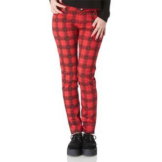 pants women JAWBREAKER - Red Tartan - TRA4516R