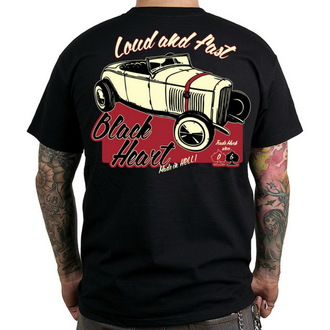 t-shirt street men's - Loud And Fast - BLACK HEART - BH076