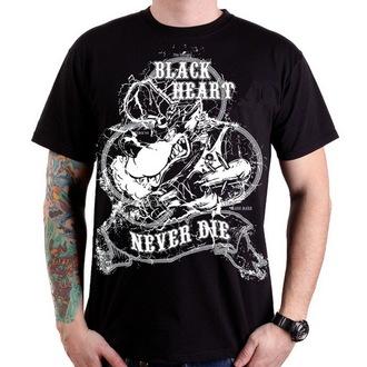 t-shirt street men's - Neverdie - BLACK HEART, BLACK HEART