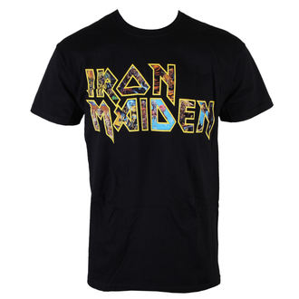 t-shirt metal men's Iron Maiden - Eddie Logo - ROCK OFF - IMTEE45MB
