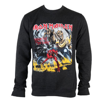 sweatshirt (no hood) men's Iron Maiden - NOTB Puff Print - ROCK OFF - IMSWT03MB