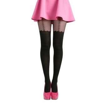 tights PAMELA MANN - Net Bow Suspender - Black - PM257